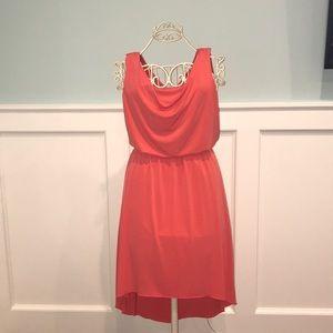 Sz 4 Valerie Bertinelli Coral High/Low Dress